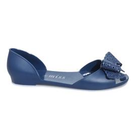 Navy Dark blue melissa sandals with a Delmar bow