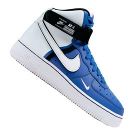 Nike Air Force 1 High LV8 2 Jr CI2164-400 shoes white-blue