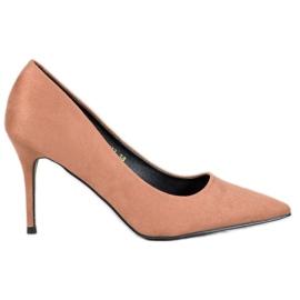 Diamantique Beige High Heels brown
