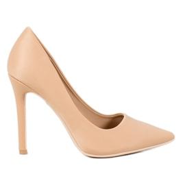 Diamantique Classic Beige High Heels brown