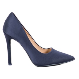 Diamantique Classic Navy Heels blue