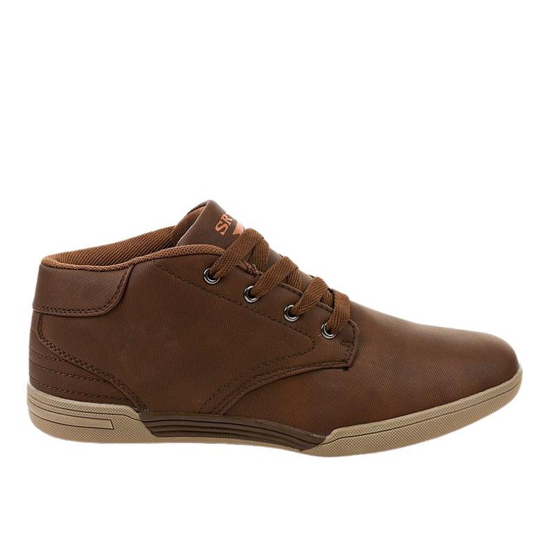 Brown men's sneakers 15M787