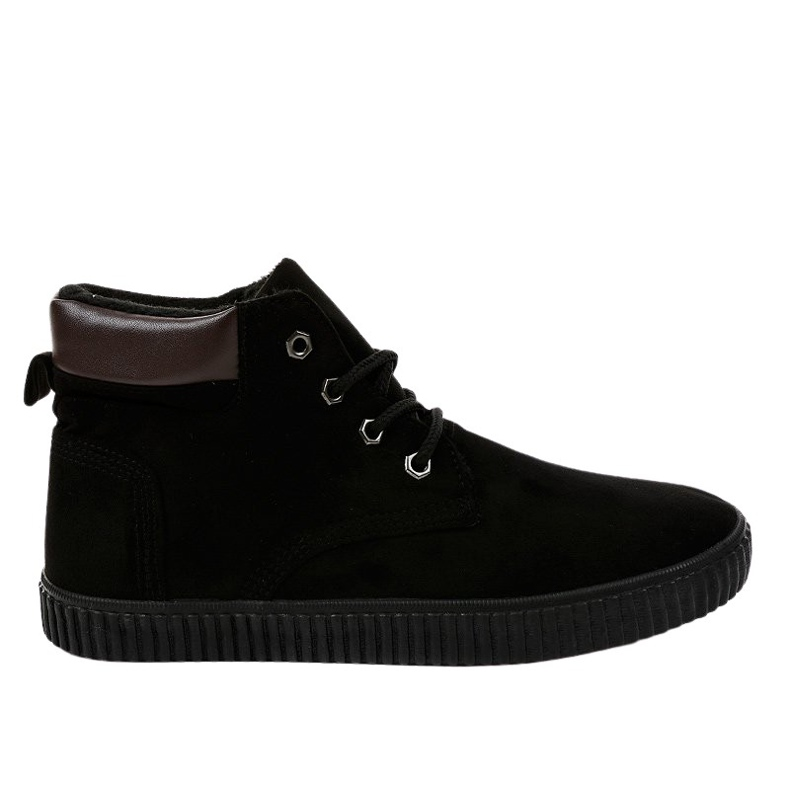 Black insulated men's sneakers AN06