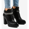 Black boots on the post with a chain 13X992-51A