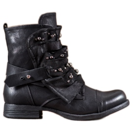 GISICODE Rock Boots With Pearls black