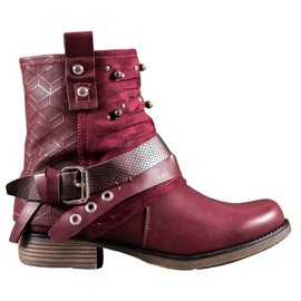 SHELOVET Boots with jets red