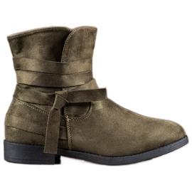 Seastar green Boots On Flat Heel