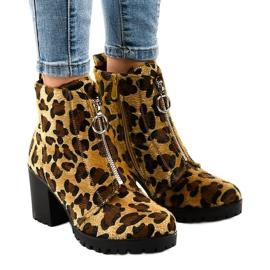 Leopard women's boots with the A273 zipper