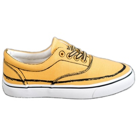 Bestelle yellow Fashionable sneakers