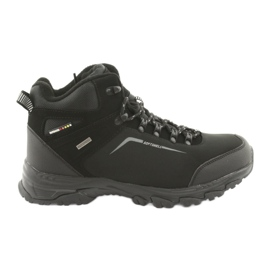 American Club black American trekking winter boots with a membrane