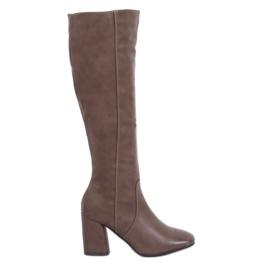 Brown Classic beige high heels 5319 Khaki