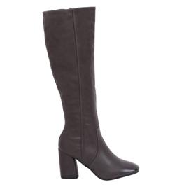 Grey Gray Heels classic 5319 Gray