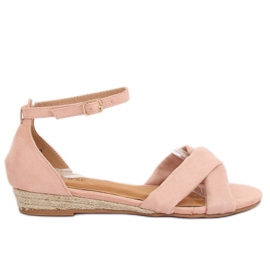 Pink espadrilles sandals 9R121 Pink II-GAT