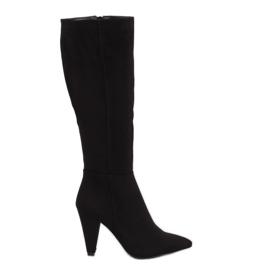 Black Black high heels 8677 Black