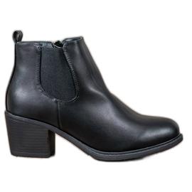 Anesia Paris Black Ankle Boots