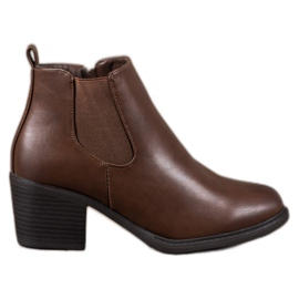 Anesia Paris Brown Ankle Boots