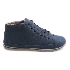 Fashionable High Sneakers TL364 Navy