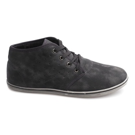Grey Fashionable High Sneakers TL354 Gray