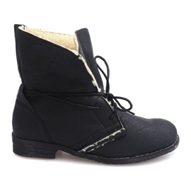 Lace-up boots with fur 8848 black