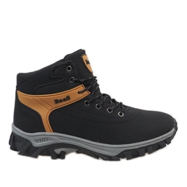 Black insulated snow boots 299-1