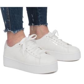 White Platform Sneakers Livet De Lux