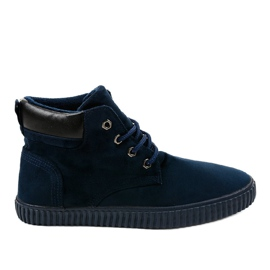 Navy Dark blue insulated men's sneakers AN06