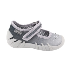 Grey Befado children's shoes 109P185