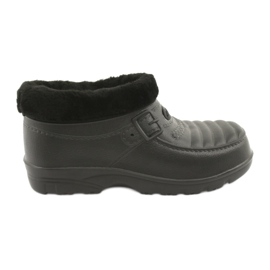 American Club black Wellingtons insulated with fur
