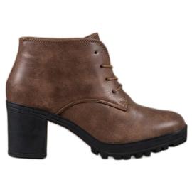 SHELOVET Lace-up Platform Ankle Boots