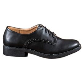 Danic black Shoes with zircons