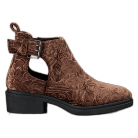 Corina Velor Ankle Boots brown
