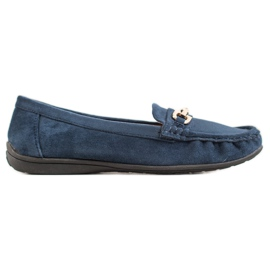 Sixth Sense blue Moccasins With Ornament