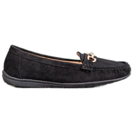 Sixth Sense Moccasins With Ornament black