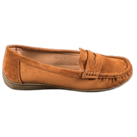 Sixth Sense brown Suede loafers