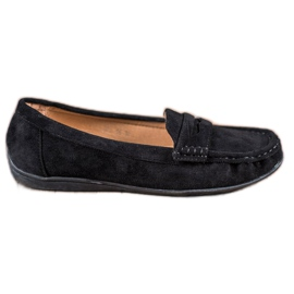 Sixth Sense black Suede loafers