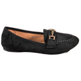 Abloom black Suede Lords With Decoration