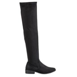 SHELOVET black Suede Thighs