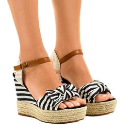 Gemre Marinist sandals wedge Blue Sea espadrilles