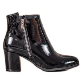 Varnished VINCEZA Boots black