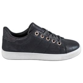 SHELOVET black Sneakers With Brocade