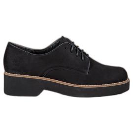 SHELOVET Black Suede Shoes