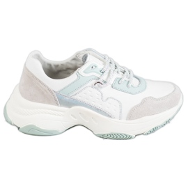 Vinceza grey Laced Sport Shoes
