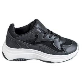 SHELOVET black Sports Sneakers