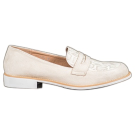 Bestelle brown Moccasins With Glitter