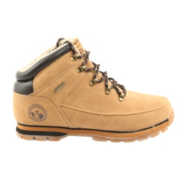 American Club ES39 camel lace-up shoes