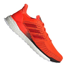 Orange Adidas Solar Boost 19 M G28462 running shoes