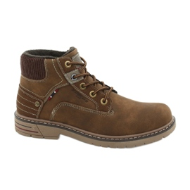 Brown American Club CY37 leather trekking shoes