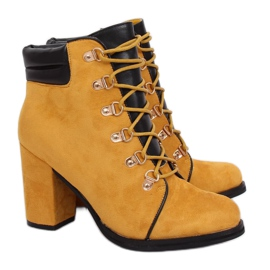 Honey wooden heels 995-29 Yellow