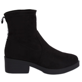 Black Low-heel boots black W868 Black