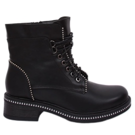 Black Women's lace-up boots C137 Black